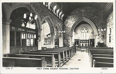 Holy Cross Church Interior,chatton,northumberland - Frith