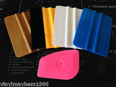 Lil Chizler Felt Wrapped 3M Gold Blue Avery squeegee vinyl applicators graphics