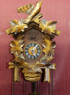 Old Wall clock Black Forest Cuckoo Clock Original Schwarzwald Black Forest