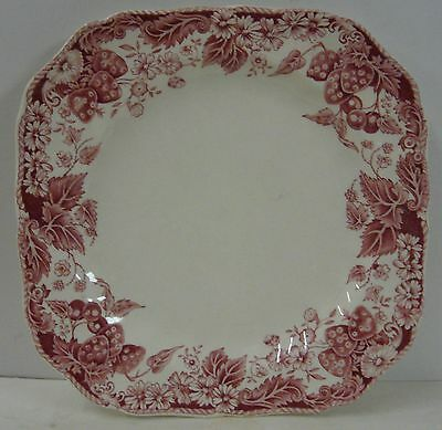 """Johnson Brothers STRAWBERRY FAIR Square Salad Plate (7-3/4"""") Multiple Available"""