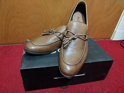 ALDO Suti Tassel Loafer Shoes Cognac/Brown Leather Size 11 UK (New)