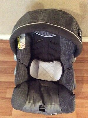 CHICCO Keyfit 30 Infant Car Seat Cushion Cover Canopy Head Rest Gray Silver