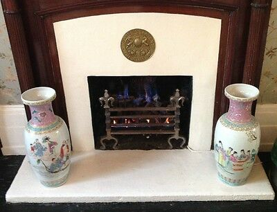 Large Pair of Chinese Porcelain Vases Famille Rose style, Mid-20th Century