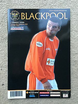 Blackpool v Grimsby Town - Nationwide League Div 2 2003/04 Programme