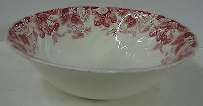 """Johnson Brothers STRAWBERRY FAIR 8-1/4"""" Round Vegetable Serving Bowl"""