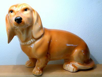 Hand Made Collectable Porcelain Dachshund Dog Figurine
