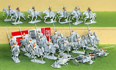 20mm war games medieval chinese mongol cavalry white metal