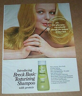 1971 print ad page - Breck hair CUTE GIRL blowing bubbles vintage shampoo ADVERT