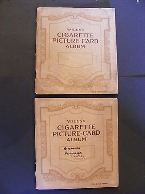 Mixed lot of original empty cigarette card albums
