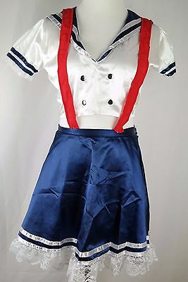 Leg Avenue Blue, Red and White Sailor Girl costume cosplay size SMALL