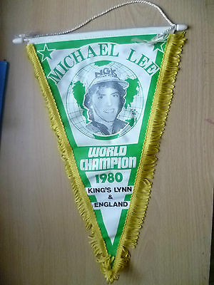 Speedway Pennants-MICHAEL LEE World Champion 1980, King's Lynn & England(34x22cm