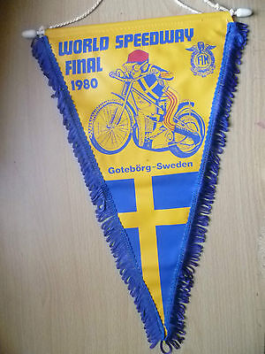 Pennants: WORLD SPEEDWAY FINAL 1980- GOTEBORG v SWEDEN
