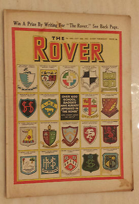 Comic- THE ROVER, No.1426, 25th October 1952 - SCHOOL BADGES IN THE ROVER