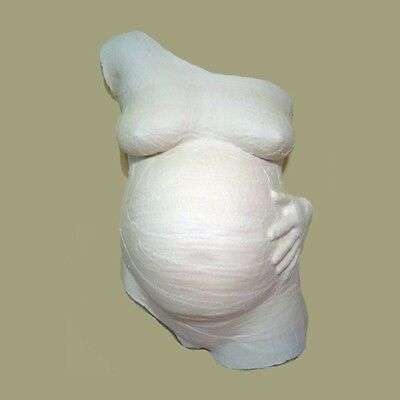 Plaster Body Casting kit.Pregnant Belly Mould Cast with Silver Paint