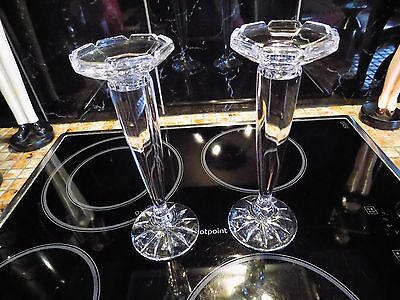 2 Lovely Glass  Candle sticks