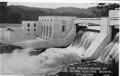 PITLOCHRY Power House of Hydro Electric Perthshire Scotland old Postcard unused