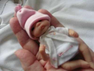 OOAK CLAY SCULPT BABY 3.5 Inches.