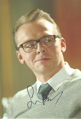 """12""""x8"""" Signed Photograph of Simon Pegg - Plus Cert of Authenticity"""