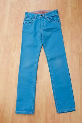 Boys Boden Johnnie B Turquoise Blue Jeans Size 22 Long