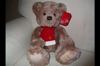 "Exclusive Harrods Christmas 2013 Bear Large 13"" Sitting BNWT Sold Out Rare Bear"
