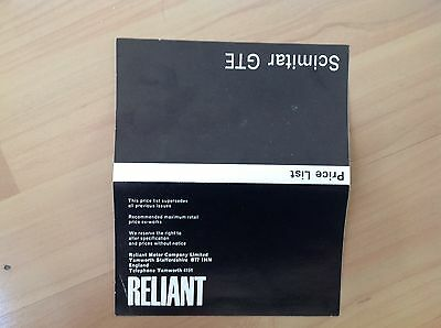 Reliant Scimitar Gte Price List 1974