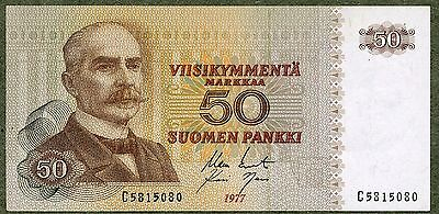 Finland 50 Markkaa 1977 Prefix C UNC Condition !!!