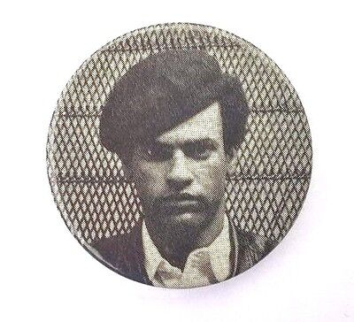 BLACK PANTHER PARTY - Minister of Defense HUEY P. NEWTON 1968 photo button -
