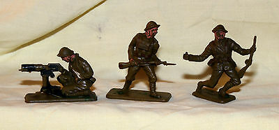 crescent vintage plastic toy soldiers great war ww1 british infantry