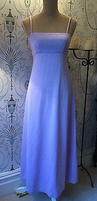 Lilac Mauve Long Evening Dress Vintage Retro Strappy Women's Size Small UK 8