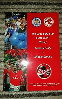 The Coca-Cola Cup Final Replay 1997 Leicester City V Middlesborough Programme