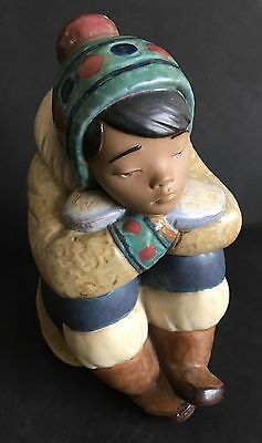Lladro Pensive Eskimo Boy. 2159. Perfect