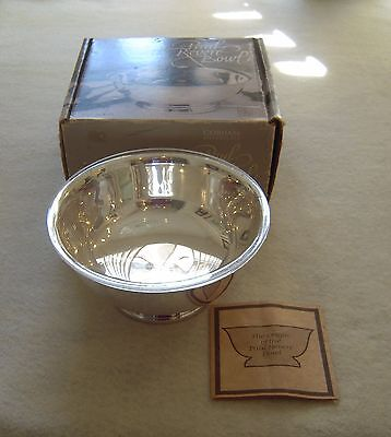 "NIB YC799 Gorham Silverplate 6 1/2"" Paul Revere Bowl with Liner"