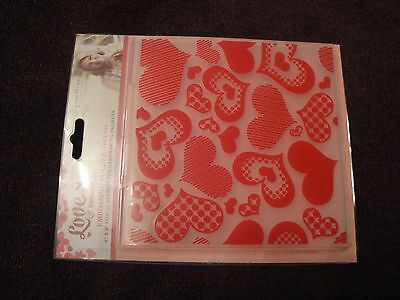 Crafters Companion: Embossing Folder: Love and Romance: In Love 6x6