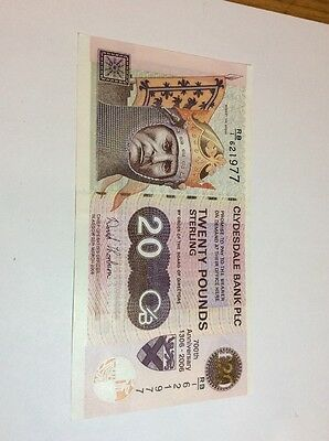 Clydesdale Bank Commemerative £20 RB1 First Issue 700th Anniversary Scarce