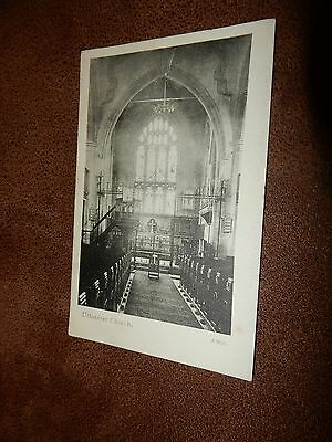 Early Postcard - Church interior - Uttoxeter Staffordshire