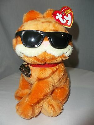 Ty-Garfield With-Sunglasses-Plush 7'' With Name Tag
