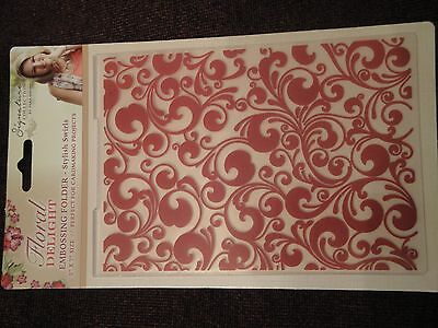 Crafters Companion: Embossing Folder: Floral Delight: Stylish Swirls 5x7