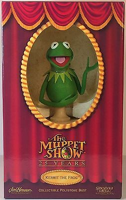 Kermit The Frog Bust • The Muppet Show • Henson • Sideshow Weta • 2002 • Mint