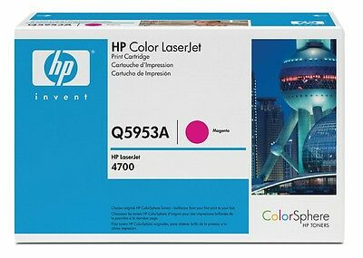 Original HP Toner Q5953A 643A Magenta for HP LaserJet 4700N Laser New Sealed