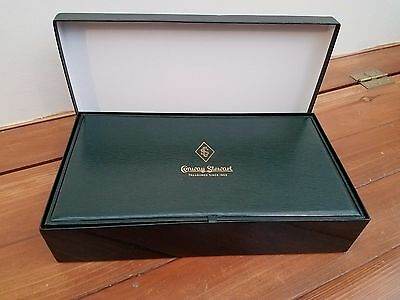 "Conway Stewart Pen box with COA.  Empty. 2 3/8"" T, 12 3/8""W, 6 3/4""D"