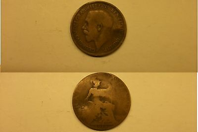 Half Penny Coin 1918 George V