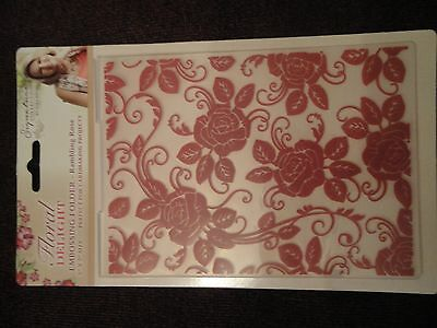 Crafters Companion: Embossing Folder: Floral Delight: Rambling Rose 5x7