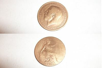 Half Penny Coin 1919 George V