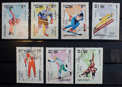 Cambodia / Kampuchea 1984 Olympic Stamps Winter/Summer 2 Scans