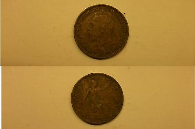 Half Penny Coin 1929 George V