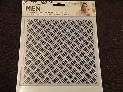 Crafters Companion: Embossing Folder: Just For Men: Checkerplate 6x6