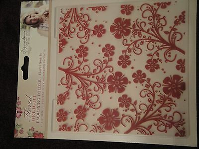 Crafters Companion: Embossing Folder: Floral Delight: Floral Swirls 6x6
