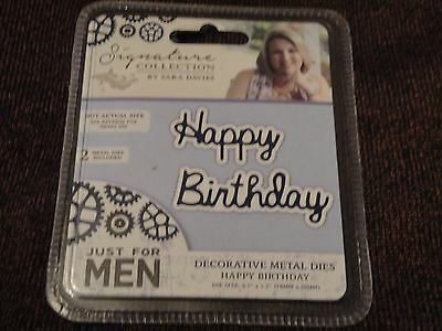 Crafters Companion: Die Cutter: Just for Men: Happy Birthday