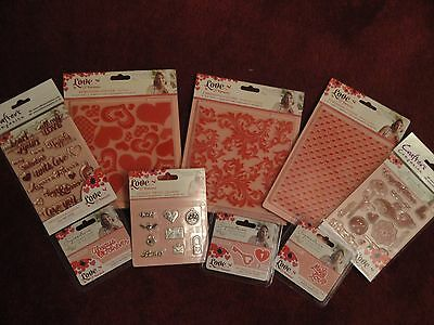 Crafters Companion: Love and Romance:Bundle - Dies, Embossing Folders, Stamps