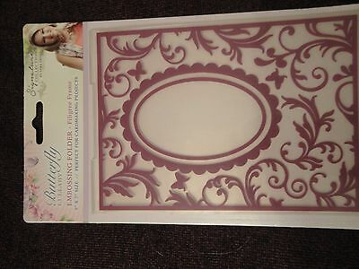 Crafters Companion: Embossing Folder: Butterfly Lullaby: Filigree Frame 5x7